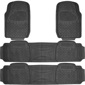 4 Pc Full Set Fits Honda Pilot All Weather Heavy Duty Rubber Black Floor Mat