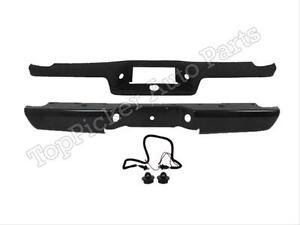 For 93 2011 Ford Ranger Styleside Rear Bumper Bar Blk Pad License Light Harness