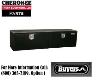 Buyers Products 1702325 Black Steel Underbody Toolbox 18 H X 18 D X 72 W