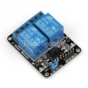 5pcs 5v 2 Channel Relay Module With Optocoupler For Pic Avr Dsp Arm Arduino