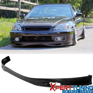 Front Bumper Lip Spoiler Fit 99 00 Civic Ek Jdm Spoon Urethane 1999 2000