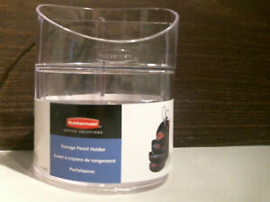 Lehigh Small Storage Divided Pencil Cup Plastic Clear