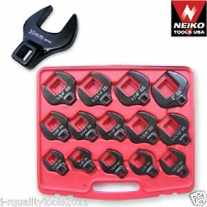 Large 12 Drive Dr Metric Size Crows Foot Feet Socket Wrench Tool Set