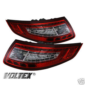 2005 2008 Porsche 911 997 Tail Led Light Bar Lamp Lightbar Red Clear