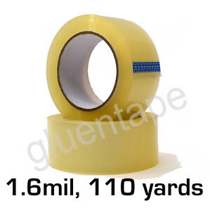 1 6 Mil Clear Carton Sealing Packing Tape 2 Inch 110 Yards 330 36 Rolls