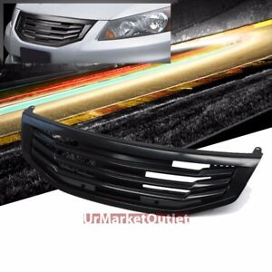 Black Mugen Style Front Grille For Honda 11 12 Accord Sedan Cp2 cp3 2 4l 3 5l