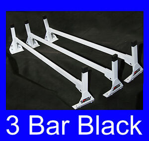 Cube box Truck Enclosed Trailer 3pc Black Top Mount Ladder Rack 84 87 High