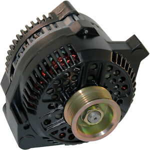 Alternator Fits Ford Mustang One Wire Black 1 Wire High Output 250amp 1965 1996