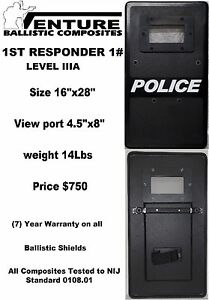 Emergency 1st Responder Ballistic Shield Police sro security