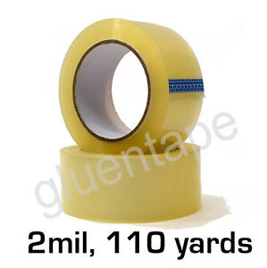 2 Mil Clear Carton Sealing Packing Tape 2 X 330 48 Mm X 110 Yds 36 Rolls