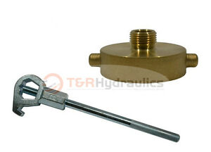 Fire Hydrant Adapter Combo 1 1 2 Nst m X 3 4 Ght m W hd Hydrant Wrench