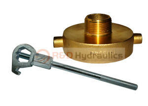 Fire Hydrant Adapter Combo 2 1 2 Nst f X 1 Npt m W Hd Hydrant Wrench