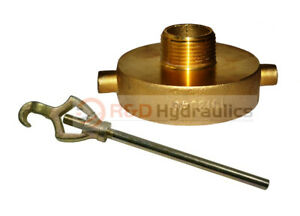Fire Hydrant Adapter Combo 2 1 2 Nst f X 1 Npt m W hydrant Wrench