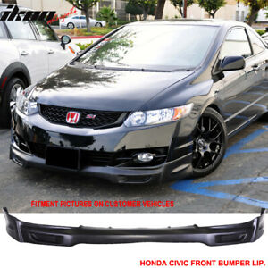 Fits 09 11 Honda Civic 2 Door Coupe Mugen Front Bumper Lip Spoiler Pu
