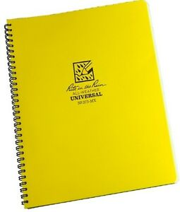 Rite In The Rain 373 mx All weather Universal Spiral Notebook Yellow 8 5 X11