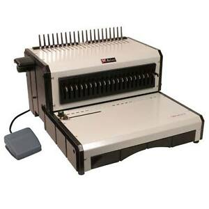 New Akiles Alphabind ce Electric Plastic Comb Binding Machine Free Shipping