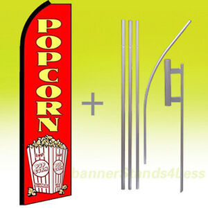 Popcorn Swooper Flag Kit Feather Flutter Banner Sign 15 Tall Rq