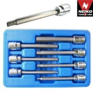 Neiko 7 P 3 8 Dr Ex Long Mm Hex Bit Socket Set 10076a