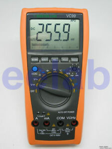 Vc99 5999 Auto Multimeter Current Volt Tester R C Analog Bar Temp Buzz Vs Fluke