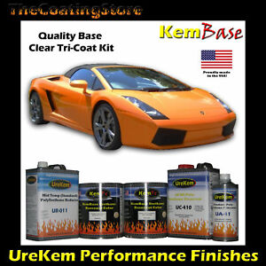Lamborghini Orange Pearl Tri Coat Auto Car Paint Kit