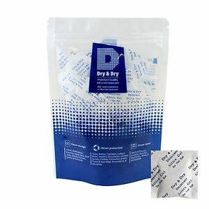 2 Gram X 100 Pk dry Dry silica Gel Desiccant Packets reusable fda Compliant