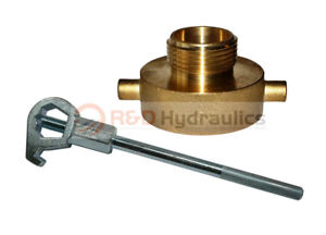 Fire Hydrant Adapter Combo 2 1 2 Nst f X 1 1 2 Npsh m W hd Hydrant Wrench