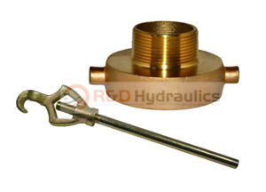 Fire Hydrant Adapter Combo 2 1 2 Nst f X 1 1 2 Npt m W hydrant Wrench