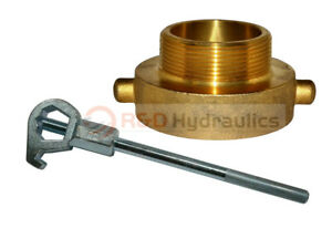 Fire Hydrant Adapter Combo 2 1 2 Nst f X 2 Npt m W Hd Hydrant Wrench