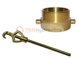 Fire Hydrant Adapter Combo 2 1 2 Nst f X 3 Npt m W hydrant Wrench