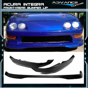 Fit For 94 97 Acura Integra T R 2 Pp Front Bumper Lip Abs Rear Lip