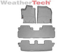 Weathertech Floor Mats Floorliner For Toyota Highlander 2008 2013 Grey