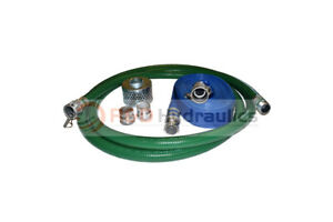 2 Green Fcam X Mp Water Suction Hose Trash Pump Complete Kit W 50 Blue Dis