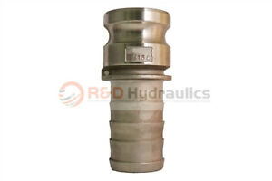 4 Type 400e 316 Stainless Steel Male Camlock X Hose Barb