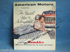 1955 Rambler Original Sales Brochure Folder
