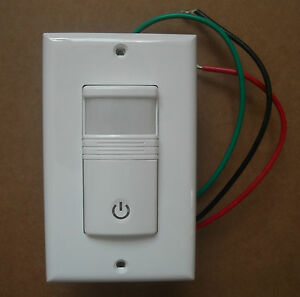 Occupancy Vacancy Wall Motion Sensor Detector 120 277v Switch White No Neutral