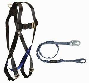 Falltech Cmb078259l Combo Kit Harness And Shock Absorbing Lanyard Combo