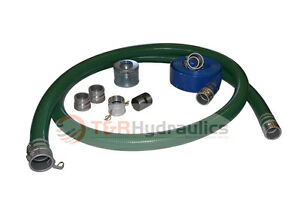1 1 2 Green Water Suction Hose Honda Complete Kit W 50 Blue Discharge Hose