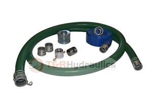 1 1 2 Green Water Suction Hose Honda Complete Kit W 25 Blue Discharge Hose