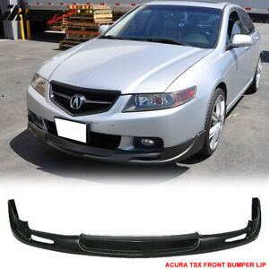Fits 04 05 Acura Tsx Mugen Style Front Bumper Lip Spoiler Pu