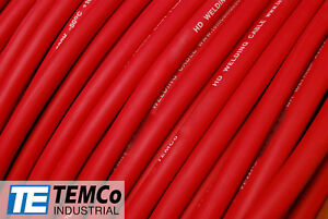 Welding Cable 2 0 Red 25 Ft Battery Leads Usa New Gauge Copper Awg Solar