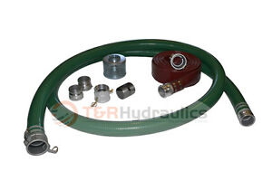 2 Green Water Suction Hose Honda Complete Kit W 100 Red Discharge Hose