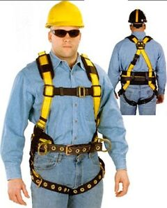Msa 10077573 Construction Harness With Tongue Buckle Tool Belt 2xl