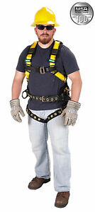 Msa 10077571 Construction Harness With Tongue Buckle Tool Belt s l