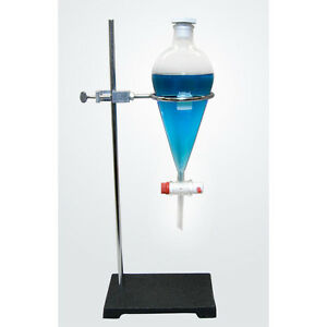 Separatory Funnel With Ring Stand And Clamp 500ml