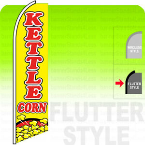Kettle Corn Swooper Flag Feather Banner Sign 11 5 Tall Flutter Style Yb