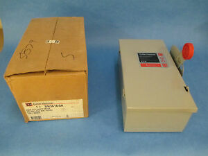 Cutler hammer Non fusible Safety Switch Dh361ugk 30a 600v 3p Type 1 New Surplus