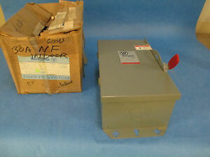 Westinghouse Safety Switch Hun361 Nonfusible 30a 600v 3p New In Box