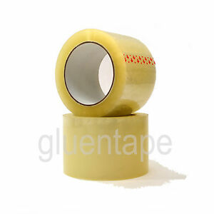 2 5 Mil Clear Carton Sealing Packing Tape 3 X 330 72 Mm X 110 Yds 24 Rolls