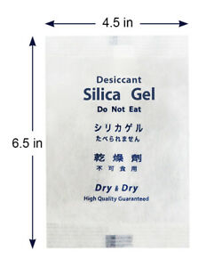 200g X 100 Ea High Quality Pure Reusable Silica Gel Desiccant