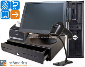 Pcamerica Pos System Cash Register Express Pro Retail Station Version New